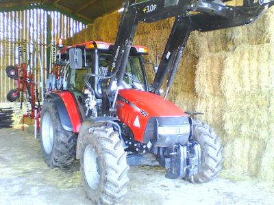 Case 105JKU and trima loader