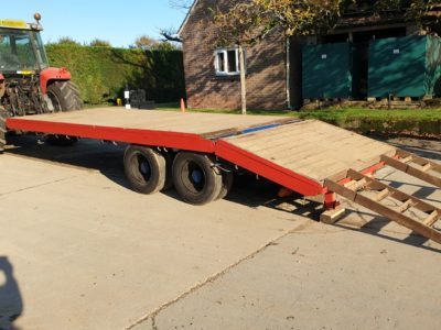 Hydraulic beavertail/flat low loader trailer 7t load