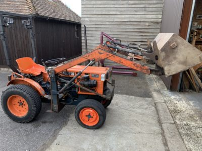 Kubota B6100 compact tractor with front loader