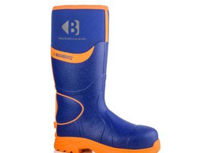 Buckler Safety Wellington Boot – Blue/Orange – Size 12